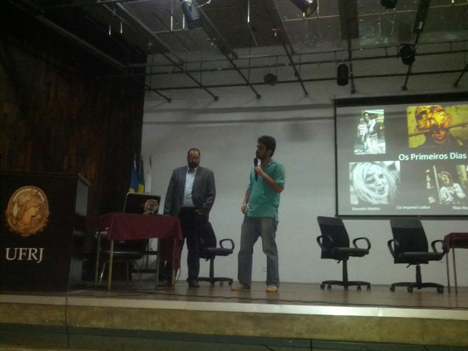 Marcello Martins e Rian Rezende apresenta Os Primeiros DIas RPG no Gamecraft II.